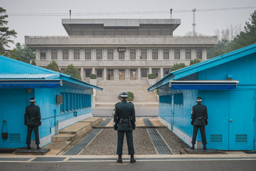 The Demilitarized Zone, or DMZ, on the border between North and South Korea.