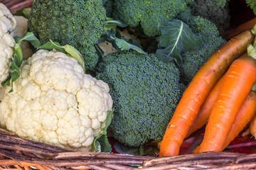 Vegetais orgânicos.