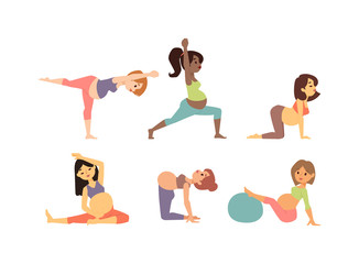 Meditating on maternity pregnant woman meditating while sitting yoga position fitness healthy lifestyle character vector. Pregnant gym fitness beautiful healthy lifestyle and fitness pregnant yoga.