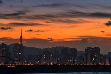Dawn over Seoul