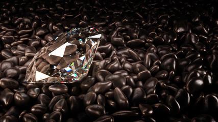 diamond concept. 3d rendering