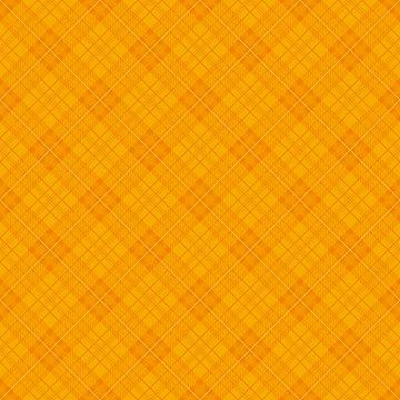 オレンジ チェック柄 ハロウィン広告背景