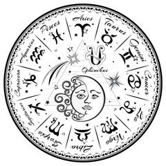 Zodiac signs, horoscope