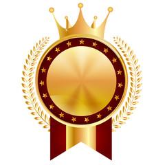 王冠 メダル フレーム アイコン