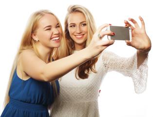 Pretty  girsl taking selfie.