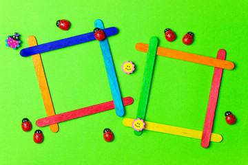 Ice cream sticks photo frames