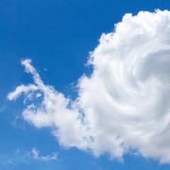 Cloud shaped like a snail