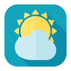 sun and cloud flat icon
