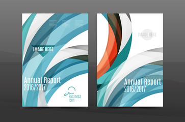 Blue wave annual report cover template