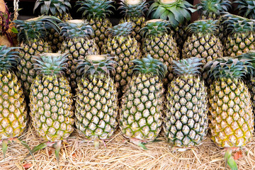 Pineapples on stall