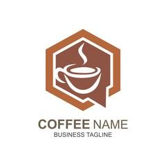 Coffe tea logo symbol vector