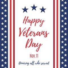 Happy Veterans Day background.