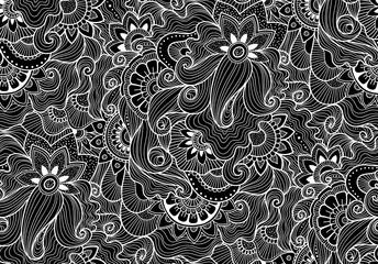 Decorative natural seamless pattern. Zen-tagle