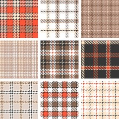 plaid seamless pattern background, symmetrical