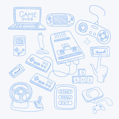 Vidoe Game Related Object Set