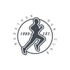 Marathon Run Club Black Label Design