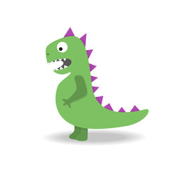 Cartoon cute dinosaur. Monster on white background.