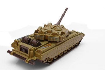 Plastic model of a battle tank