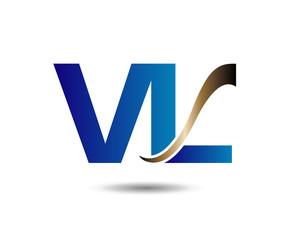 Letter V and L logo