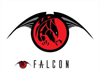 eagle. unique design of attacking falcon