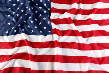 Close up of American flag