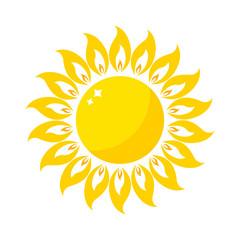 Vector sun icon isolated on background. Sun Vector isolated summer icon design. Vector yellow sun symbol. Vector sun sun element. Sun weather icon vector sun logo isolated sign symbol