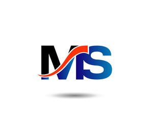 MS company linked letter logo