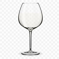 Empty wine glass.
