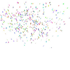 Abstract background with many falling confetti.