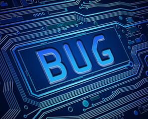 Computer bug concept.