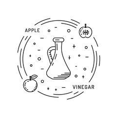 Apple vinegar sauce