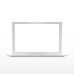 Modern laptop isolated on white vector