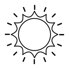 sun drawing isolated icon design