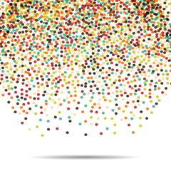 Dots pattern. Casual polka dot texture. Stylish doodle. Vector falling balls