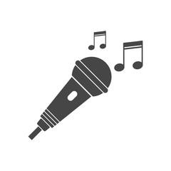 Karaoke icon, microphone icon