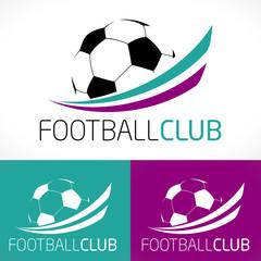 logo club sport football couleur moderne