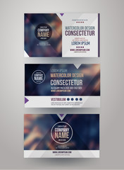 identity templates with blurred abstract background