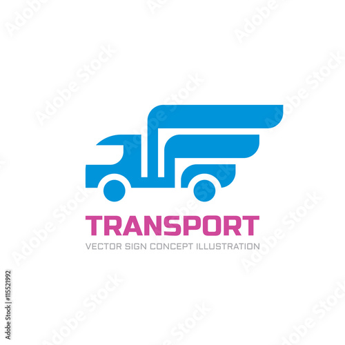 transport vector logo template abstract car truck silhouette with