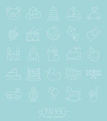Toys Thin Line Icon Collection