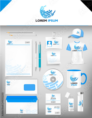 Corporate identity template realistic cup business card corporate identity template realistic cup business card letterhead envelope usb stick flashek Gallery