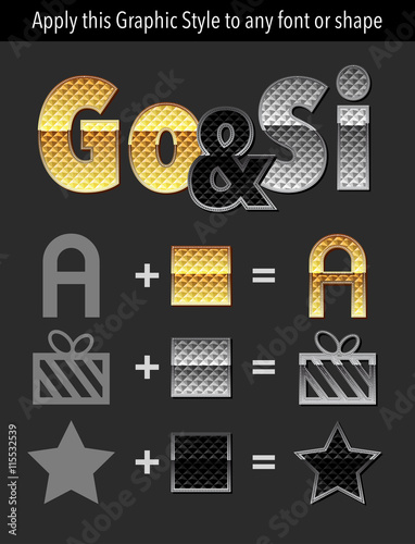 Golden Graphic style for adobe illustrator  Please download