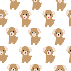 Funny dogs seamless pattern on the white background