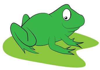 Cartoon green frog