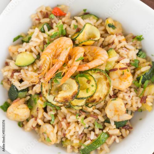 Risotto integrale con gamberi e zucchine mediterranean for Cuisine integrale