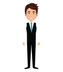 Young male cartoon design, vector illustration graphic icon.