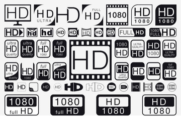 Big Set HD Icons. HD Labels