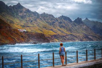 girl ocean Tenerife.