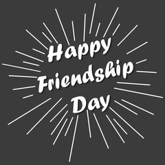 Vector illustration with colourful text for Happy Friendship day