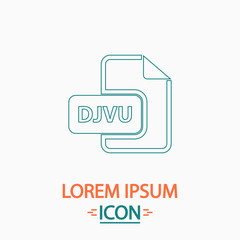 DJVU computer symbol