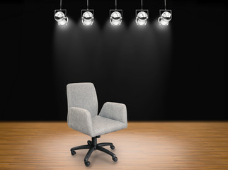 fabric office chair on stage background & Search photos